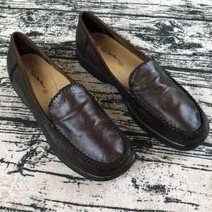 Thom McAn Brown Leather Loafers, 11.